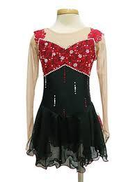 Image result for red figure skating dresses