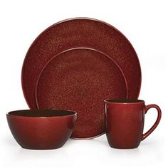 Mikasa Gourmet Basics Lumina 16-pc. Dinnerware Set  sc 1 st  Pinterest & Creative Bath Polypropylene 13pc Dinnerware Set Cherry | Dinnerware ...