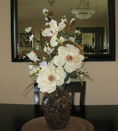 Here are the best Silk flower ideas to make your event special. Spring Flower Arrangements, Artificial Floral Arrangements, Dried Flower Arrangements, Vase Arrangements, Flower Vases, Magnolia Flower, Flower Bouquet Wedding, Bridal Bouquets, Silk Flowers
