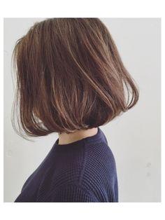 カッツヘアー(katz hair) ナチュラルハイライト//パールアッシュ//前下がりボブ