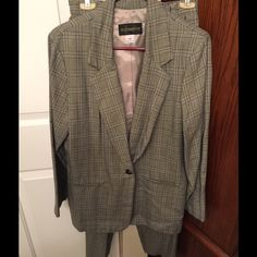 Requirements Black, Grey & Blue Checked Suit Requirements suit checked in black, gray, & blue. Buttons with one button in front. Matching pants. Size 10. Requirements Other