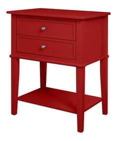 Look what I found on #zulily! Red Franklin Accent Table #zulilyfinds