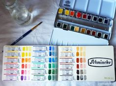 Making a watercolor reference - using the wrappers for documentation.  Jenny's Sketchbook