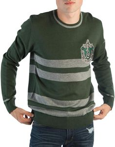 Bioworld Slytherin Stripe Jacquard Sweater - Adult
