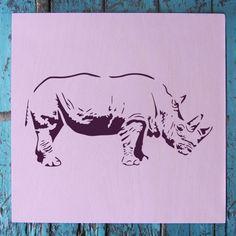 """Rhino Stencil - Small (5.75""""x6"""")"""