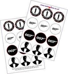24 x PRE-CUT James Bond 007 Cake Toppers By Eshack by eShack, http ...