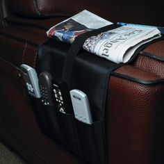 Atlantic Over The Arm Remote Caddy in Black