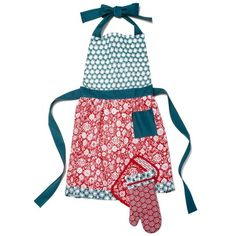 $12.97 The Pioneer Woman Bandana Apron, Oven Mitt and Pot Holder Set