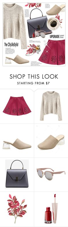 """Wine Red Skirt"" by stranjakivana ❤ liked on Polyvore"