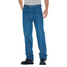 Dickies - Men's Big & Tall Relaxed Straight Fit Denim 5-Pocket Jeans
