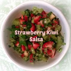 Grilled Mahi Mahi with Strawberry Kiwi salsa recipe. Easy summer grilling recipe and 21 Day Fix friendly.