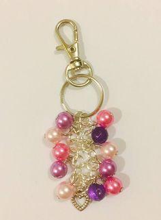Beaded Bag Charms Handbag Charms Coloured Keyrings Gifts