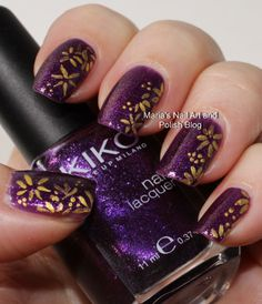 Easy floral petal nail art