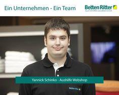 Hinter einem erfolgreichen Unternehmen steckt immer ein ambitioniertes Team. Heute stellen wir Ihnen Yannik Schinko vor. Sein Aufgabenbereich umfasst die Aushilfe im Webshop. Tolles Team = Glückliche Kunden = Erfolgreiches Unternehmen www.bettenritter.com/Team