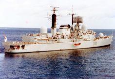 HMS Sheffield, die während des Konflikts versenkt wurde.  Wikipedia / NathalMad / CC BY 3.0