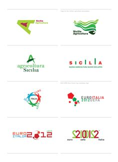 These are all Italian logos. I noticed they use a lot of greens and reds.
