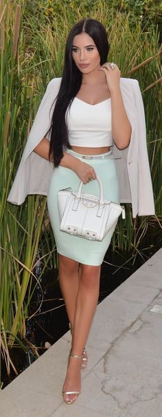 Pastel And Neutral Chic Outfit Idea by Laura Badura Fashion CollectiveStyles.com