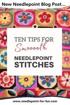 Needlepoint Stitches, Needlepoint Pillows, Needlepoint Patterns, Needlepoint Canvases, Needlework, Sewing Patterns, Cross Stitch Needles, Cross Stitch Embroidery, Cross Stitch Patterns