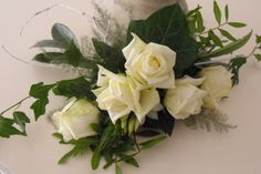 Witte corsage