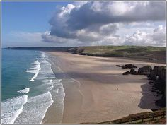 Perranporth, North Cornwall (looks like Papamoa, New Zealand!) Never noticed that before.
