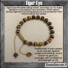 Mala Yoga bracelet - meditation| Karma Arm | mens womens charm chakra beaded stacks. Tiger Eye. Macrame.
