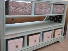 love the uses for old dressers