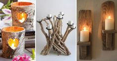 20 Wooden Candle Holder Ideas :http://www.wwideas.com/2017/04/20-wooden-candle-holder-ideas/