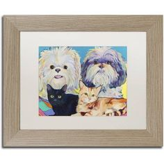 Trademark Fine Art Family Canvas Art by Pat Saunders-White, White Matte, Birch Frame, Size: 11 x 14