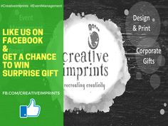#MakeMeWin Contest: Follow the instructions To Win * Like The Creative Imprints Facebook Page. * Ask Your Friends to Like & Share Creative FB page. * Comment & Tag YOU in this post. * Team member who gets most likes via friends circle wins to receive surprise gift and a High tea office treat. Note: Last Date: 15th August. Targeted LIkes: 650+