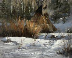 """Tracks"" Native American Prints by J. Hester kK"