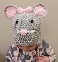 Mouse Hat - Crochet Mouse Hat