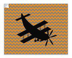 Biplane Aircraft Children's Airplane Canvas Wall Peel