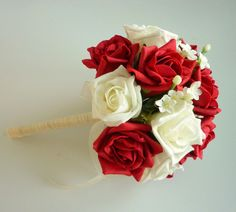 Red and Ivory Jasmine Bouquet