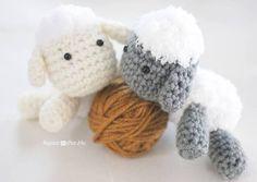 cute little crocheted lambs