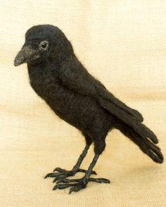 Karen the Crow: Needle felted animal sculpture