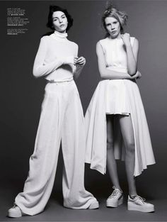 clean-cut: kate bogucharskaia and julia zimmer by daniel thomas smith for jalouse february 2014