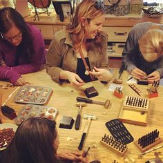 Bring your girlfriends by for a fun afternoon today! We are having a great time making a ton of customized jewelry. All ages welcome!