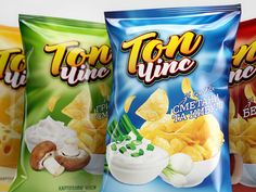 Product branding and packaging design for the range of chips. Packaging Snack, Food Packaging Design, Packaging Design Inspiration, Branding Design, Packaging Ideas, Cookies Et Biscuits, Jelly Beans, Design Agency, Food Design