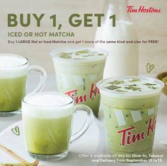 Tim Hortons, Secret Menu, Got 1, Social Media Pages, Home Food, Buy 1 Get 1, Pinoy, Perfect Match, Matcha