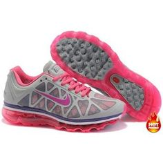 Nike Air Max 2011 Women Mesh Shoes Grey/Pink/Purple Color