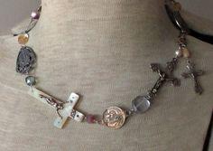 """""""five crosses necklace"""""""