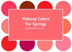 Lipstick Colors For A SpringMost springs should wearsemi-gloss to glossy lipstick in bright, rich, and warm tones of red, warm pink, coral, peach, russet and spicy colors. SHOP LIPSTICKAll SpringsPure SpringsPure springs can also wear hot pink and pink.SHOP LIPSTICKShaded Springs and Toned Springs