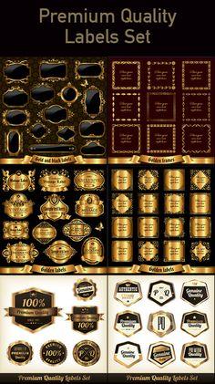 Vintage Golden Labels Set