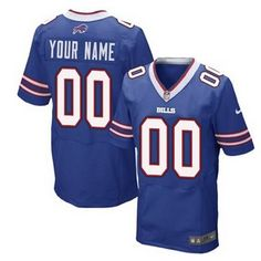 Youth Nike Personalized Buffalo Bills Elite Team Color Royal Blue NFL  Football Jersey Nike Elites 217e545aa