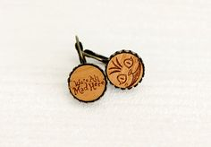 Alice in Wonderland  cheshire cat  Wooden Earrings  Laser