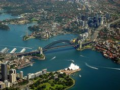 Sydney Harbour, Bridge and Opera House Places Ive Been, Places To Go, Famous Bridges, Honeymoon Destinations, Sydney Australia, Google Images, Opera House, Beautiful Places, Scenery