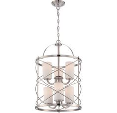 View the Nuvo Lighting 60/5329 Ginger 6 Light 2 Tier Cage Chandelier in Brushed Nickel at LightingDirect.com.