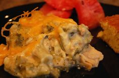Chicken broccoli divan in the crock pot.- SO GOOD and SO EASY!