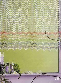 Kraina wzorów szydełkowych...Land crochet patterns..: Firanka - curtain
