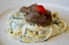 Check out our Steak Gorgonzola Alfredo!  @royalcatering  #ROYALCATERINGDFW
